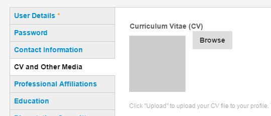How To Add Your Curriculum Vitae To Your Profile University Of