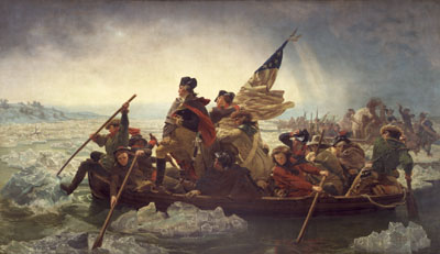 Image of Washington Crossing the Delaware painting