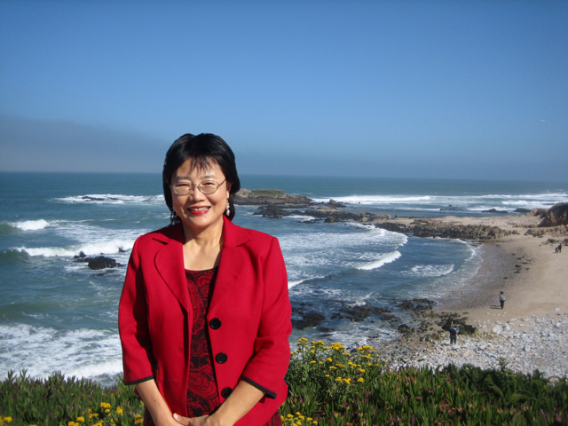 Dr. Libi Shen at the beach