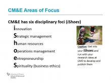 Slide listing CME Research Focus