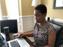 Dr Johnson-Lutz attending the KWB Virtual Conference