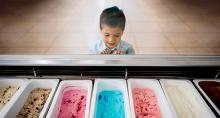 Kid Choosing Ice Cream Flavors
