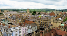 Photograph of Oxford University from a high vantage point.
