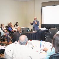 URC Dr. Scott Burrus presents during a break-out session